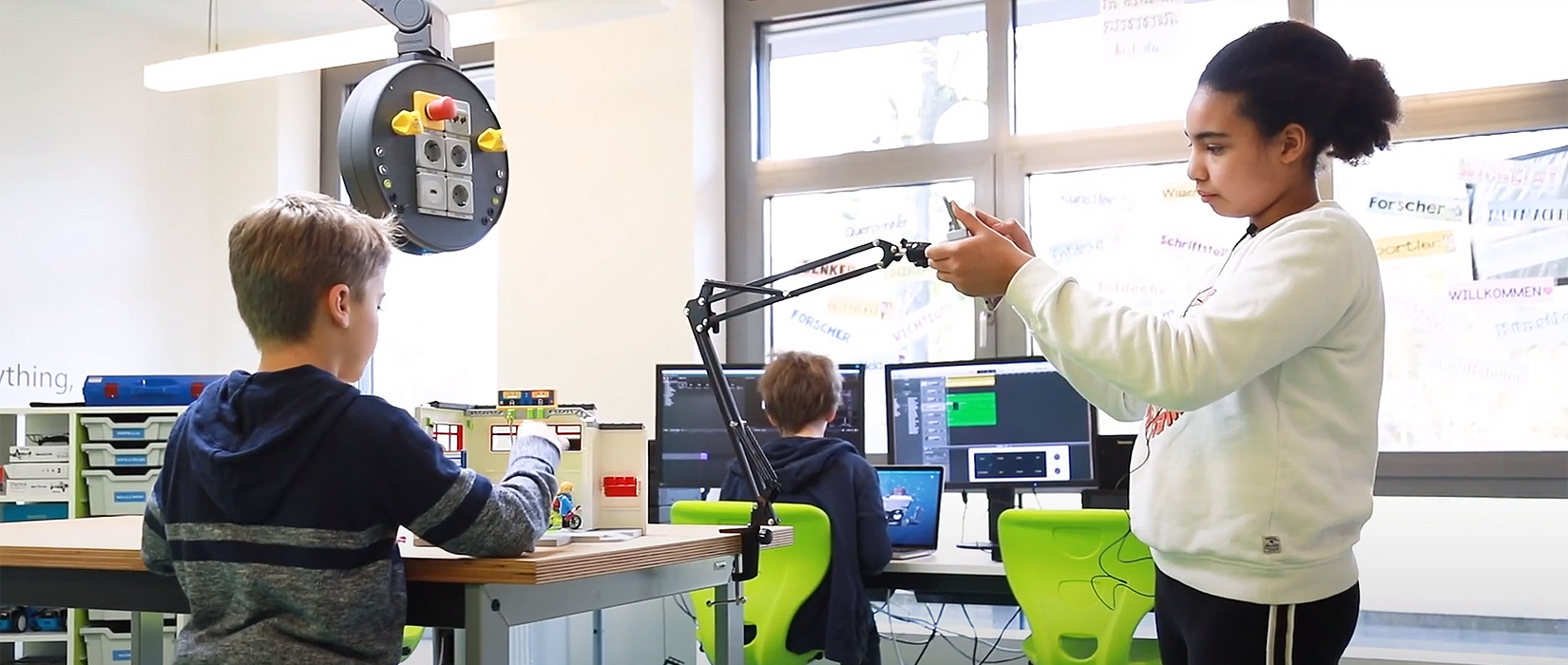 Makerspace in use