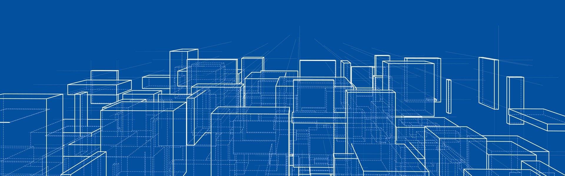 Abstrakte Darstellung - Quader perspektivisch angeordnet