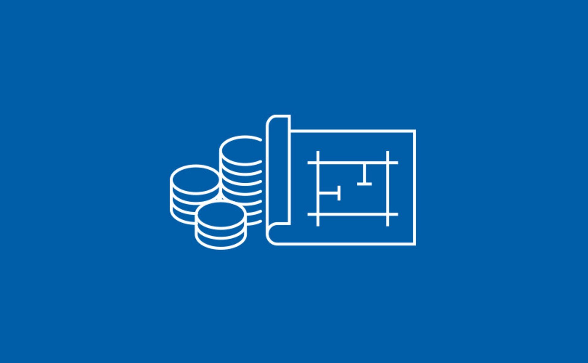 Icon Geld und Grundriss